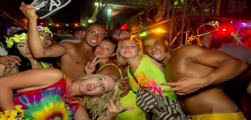 Party Haad-Rin beach Avril 2015 à Koh-Phangan