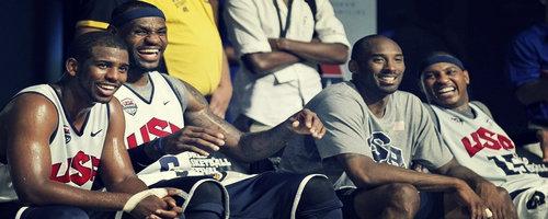 Carmelo Anthony et LeBron James aux jeux Oplympiques