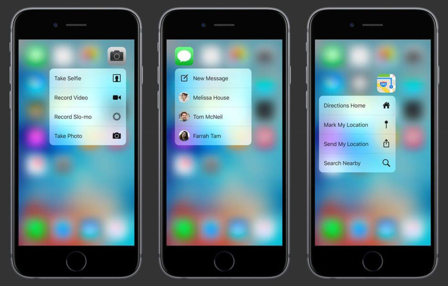 Le 3D Touch du nouvel iPhone